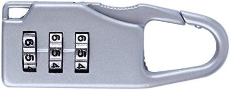 #N//A Sicherheit 3 Kombination Reisekoffer Gep/äcktasche Code Lock Rei/ßverschluss Vorh/ängeschloss