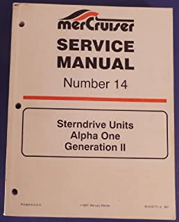 mercruiser service manual number 14 sterndrive units alpha one rh amazon com USMC Service Alpha Uniform USMC Service Alpha Uniform