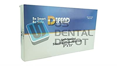 DEFEND - Sterilization Self Sealing-Pouches 9in x 15in 200 113622 Us Depot