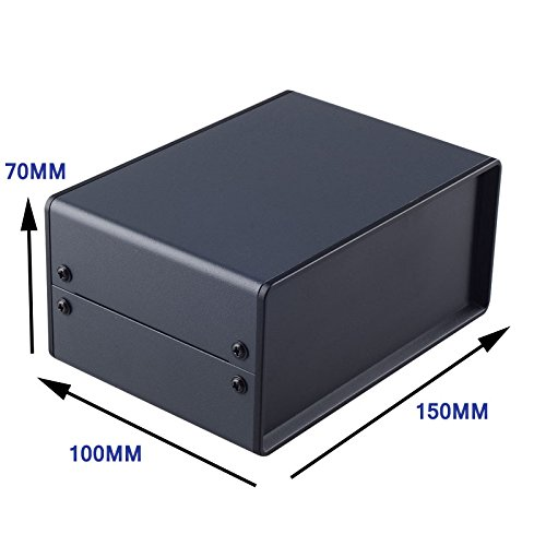 ABS Plastic Junction Box Black IP 54 Waterproof Enclosures Dust-proof Electronics Instrument Case Metal Diy Housing 150x70x100mm (Width x Height x Depth )