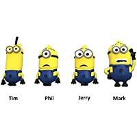 USB Flash Drive USB Flash Drive Cute Minions Series USB Pen Drive 16gb 4pcs