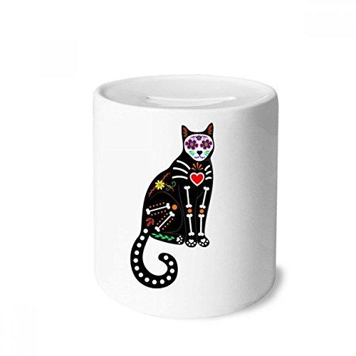 DIYthinker Black Cat Bone Heart Halloween Terror Atmosphere