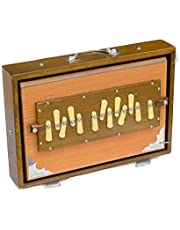 Shruti Box, Professional Quality, 13 x 9.5 x 3 Inches, Natural Color, 13 Notes, Sur Peti, Shruthi Box, Good Sustain, With Bag