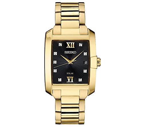 Seiko-Mens-Solar-Rectangular-Goldtone-Case-Watch