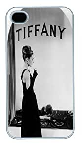 Hepburn, Audrey (Breakfast at Tiffany's) White Case/Cover for iPhone 4 and 4S