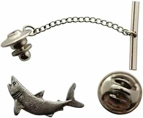 40cfbb4202eb Mako Tie Tack ~ Antiqued Pewter ~ Tie Tack or Pin ~ Sarah's Treats &  Treasures