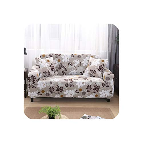 Universal 1/2/3/4 Seater Sofa Cover Big Elasticity Couch Covers Love Seat Stretch Furniture Flexible Slipcovers Home Printing,5846,Ab 90-140Cm (Market Outdoor World Sectional)