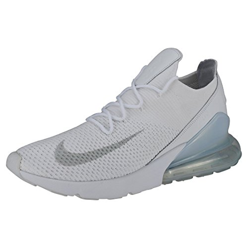 Nike Hommes Air Max 270 Chaussures De Gymnastique Flyknit Blanc (platine / Pur 102)