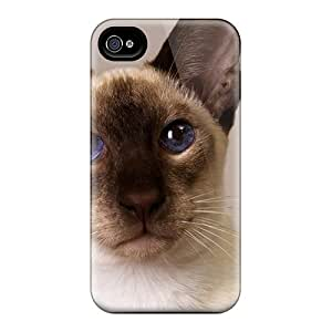 Hot New Animals Siamese Oriental Case Cover For Iphone 4/4s With Perfect Design