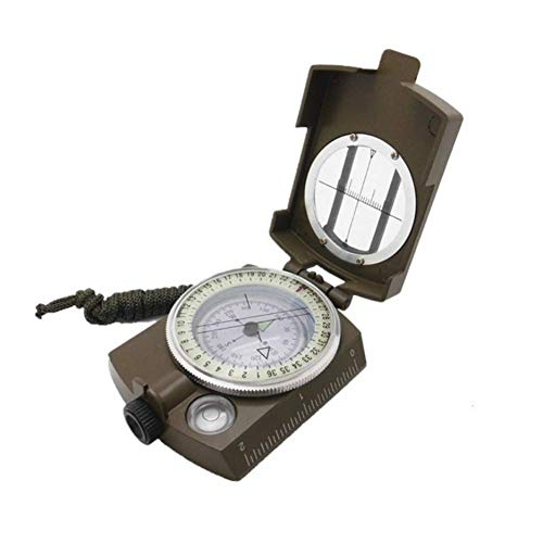 YUNJIE Multifunctional Military Army Aluminum Alloy Compass,Waterproof And Shakeproof High Accuracy Camping Backpacking Outdoorsman Hiker by YUNJIE