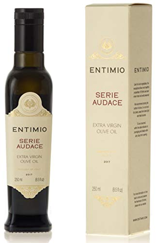Entimio 2018 Gold Winner Medium-Robust Rome Countryside Extra Virgin, Italian Olive Oil | Serie Audace, from Lazio | Estate Bottled, Fruity, High in Antioxidants | 8.5 fl oz
