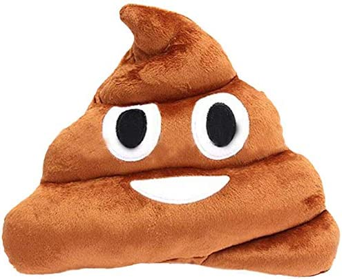 SYGA 32cm Poop Plush Pillow Cute Emoji Stuffed Cushion Soft Toy Gifts