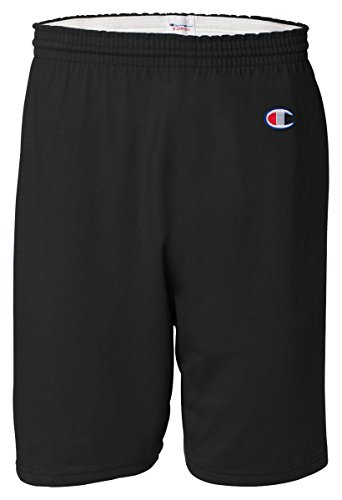 Champion Men's  6-Inch Black   Cotton Jersey Shorts - (Cotton Jersey Sport Shirt)