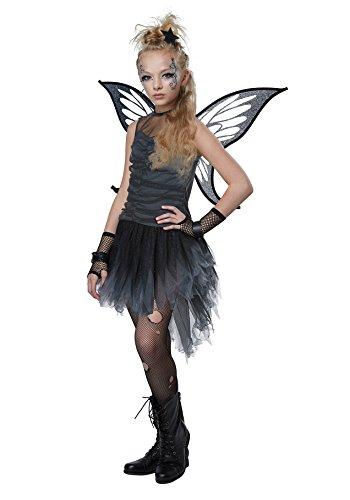Girls Dark Fairy Costume - M (Goth Girl Costume)
