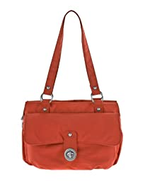 Baggallini Luggage Melbourne Satchel, Coral, One Size
