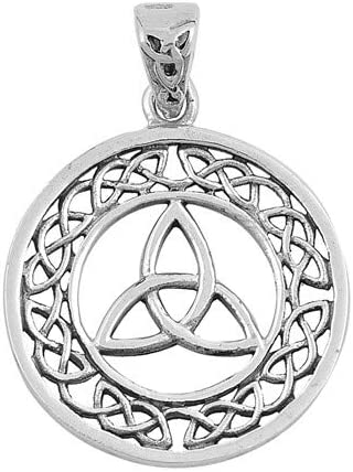 Glitzs Jewels 925 Sterling Silver Pendant for Necklace Cute Gift for Women Celtic