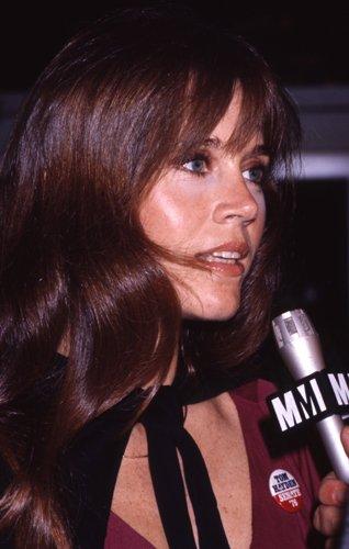 Jane Fonda Candid Original 35Mm Slide Transparency Political Rally 1976