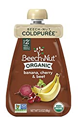 Beech-Nut Coldpurée Stage 2 Organic Banana, Cherry & Beet, 3.5 Ounce (Pack of 12)