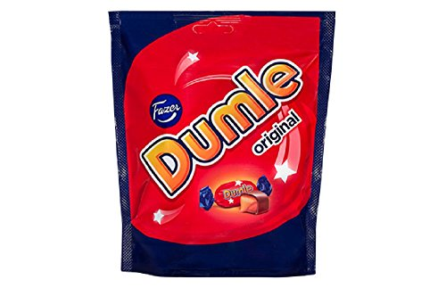 10 Bags x 220g of Fazer Dumle Original - Finnish - Milk Chocolate with Soft Toffee filling - Candies - Sweets