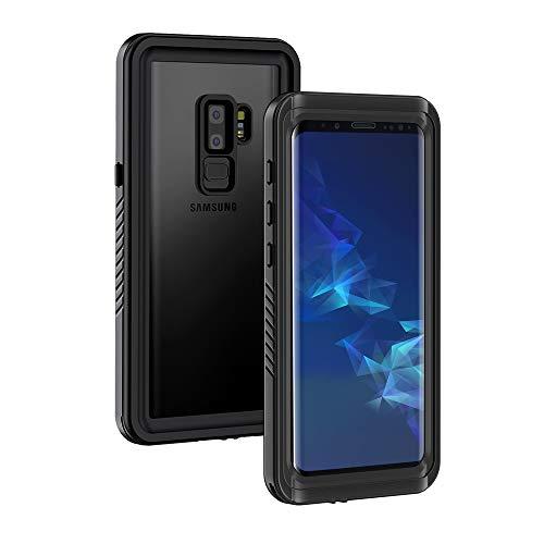 Galaxy S9+ Plus Case, Lanhiem IP68 Waterproof Dustproof Shockproof Full Body Sealed Underwater Protective Cover Built-in Screen Protector for Samsung Galaxy S9 Plus (Black)