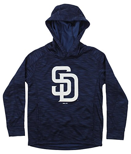Outerstuff MLB Youth's Performance Fleece Primary Logo Hoodie, San Diego Padres Medium (10-12) (Pullover San Padres Diego Fleece)