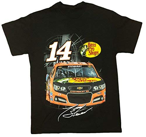 Checkered Flag NASCAR Tony Stewart #14 Double Sided Men's T-Shirt Medium