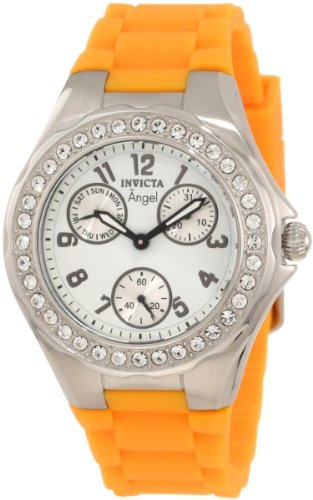 Invicta Women's 1638 Angel White Dial Crystal Accented Watch