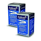 100 EMBRACE Blood Glucose Test Strips - (2 Boxes of 50) includes FREE Lancets