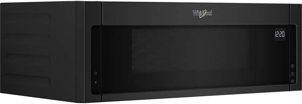 Whirlpool - 1.1 Cu. Ft. Low Profile Over-the-Range Microwave Hood Combination - Black