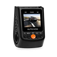 AUTO-VOX A118C Dash Cam Car Dashboard Camera with Sony Exmor Sensor Capacitor Edition Full 1080P HD video No Internal Battery 170 Super wide angle 6G Lens with G-sensor WDR Night Mode Loop Recording