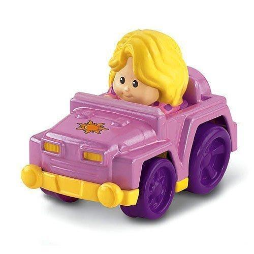 People Little Red Car - Fisher Price Little People Wheelies - Rapunzel