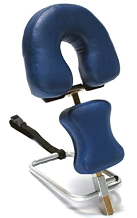 """3B Scientific W15056DB Dark Blue Stainless Steel Adjustable Headrest, For Use With Therapy Tables, 11.8"""" Length x 15.7"""" Width x 9.4"""" Height"""