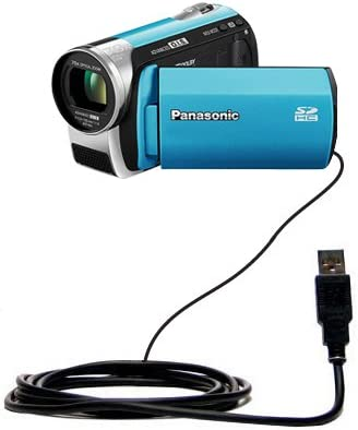 Uses Gomadic TipExchange Technology Classic Straight USB Cable for the Panasonic SDR-S25 Video Camera with Power Hot Sync and Charge Capabilities