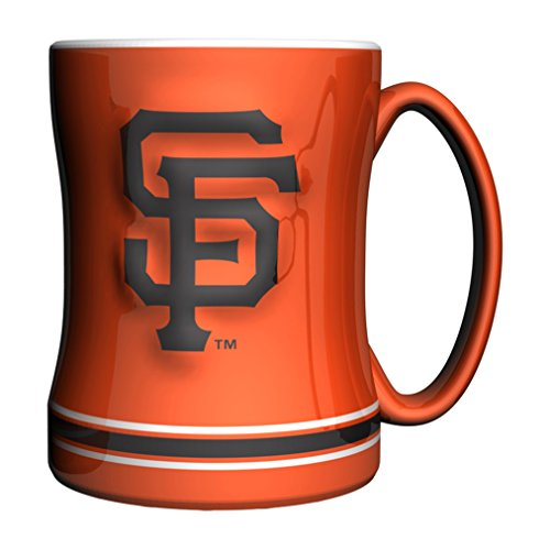 MLB San Francisco Giants Sculpted Coffee Mug, 14-ounce (Mugs Francisco San)