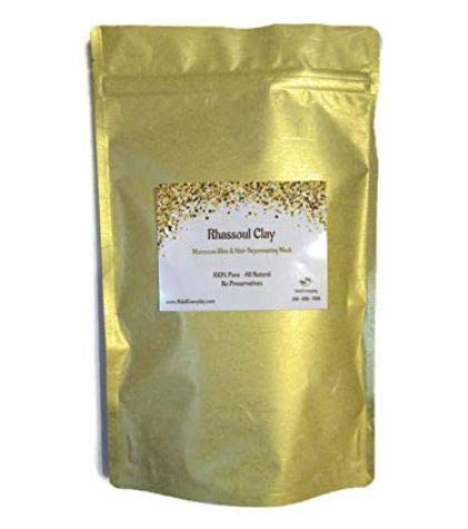 Rhassoul Clay (Ghassoul Clay) 1/2 Lb - Detoxifying and Rejuvenating clay - Moroccan Lava clay - Natural Face mask - Great for hair - DIY natural facial - Great for making soap - by HalalEveryday
