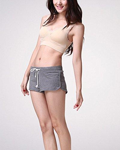 Mujer Sujetador deporte para Yoga Gimnasia Entrenamiento Correr Activewear Color desnudo