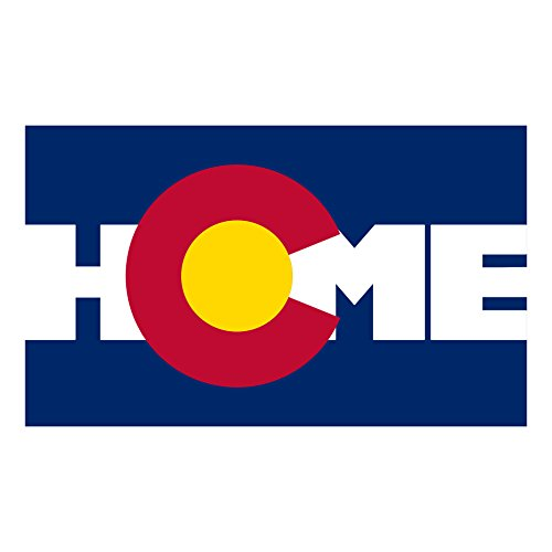 Colorado State Flag Home Bumper Stickers - Pack - Colorado Native