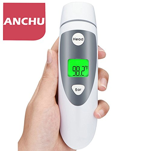 Medical Infrared Forehead and Ear Thermometer Dual Mode Clinical Accurate for Baby Infant Toddler and Adults Fever Indicator FDA Approved by anchu