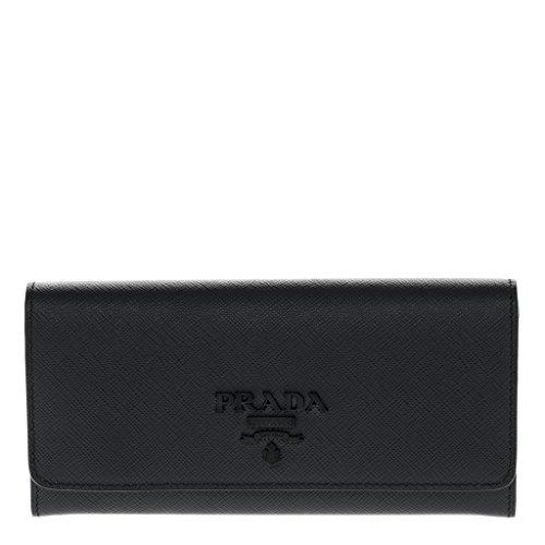 Prada Womenâ€s Large Saffiano Leather Wallet - Black Prada Purse