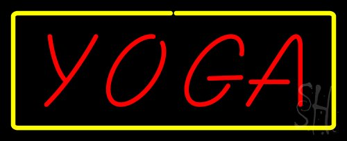 - Red Yoga Yellow Border Outdoor Neon Sign 13