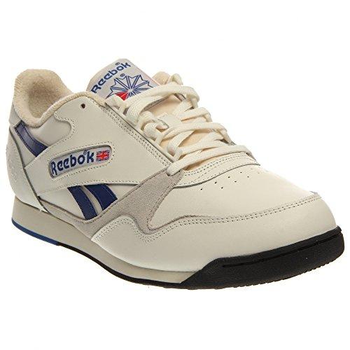 Reebok Rt100 Klassieke Heren Sneakers Maat Ons 8.5, Normale Breedte, Kleur Crème / Blauw