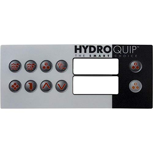 - Hydro Quip Overlay, HT2, 10 Button, Large Rec