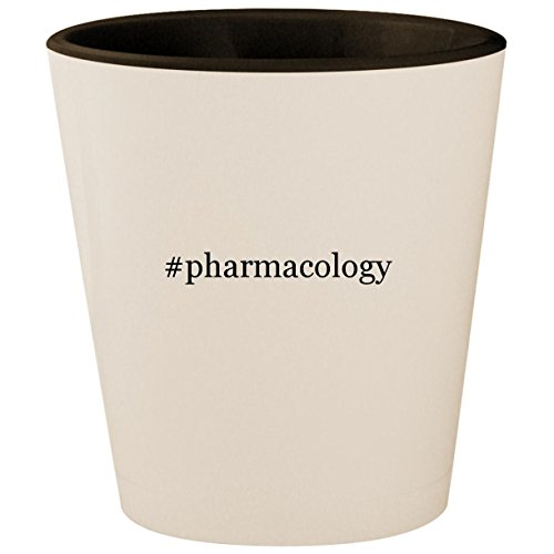 Price comparison product image #pharmacology - Hashtag White Outer & Black Inner Ceramic 1.5oz Shot Glass