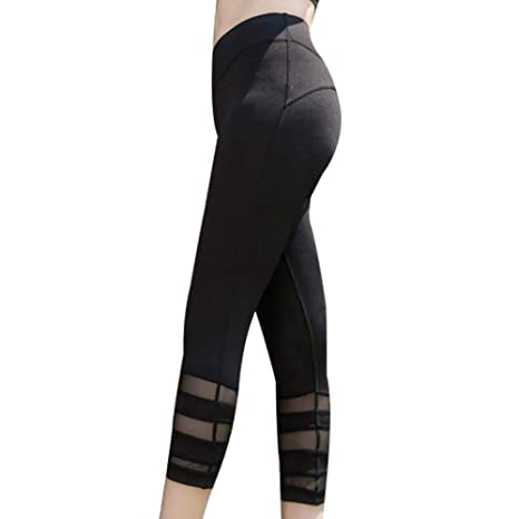 HBCK Pantalones de Yoga Deportes Running Fitness Stretch ...