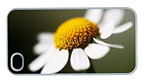 Hipster iPhone 4 case amazing cases White Camomile PC White for Apple iPhone 4/4S