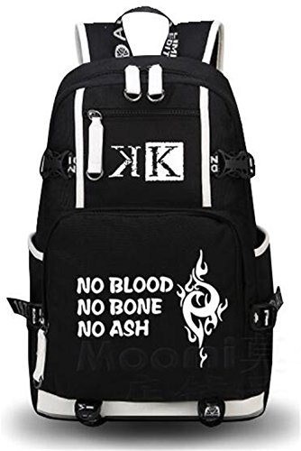 YOYOSHome Anime K Project Cosplay Bookbag College Bag Daypack Backpack School Bag (Black)