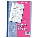 Money/Rent Receipt Books, 2-3/4 x 7 1/8, Three-Part Carbonless, 100 Sets/Book, Sold as 1 Each