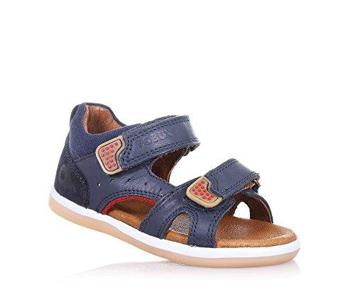 BOBUX - Sandale I-Walk Wave bleue en cuir transpirant, extrêmement flexible, elle permet une croissance, garçon, garçons