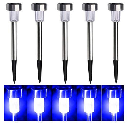 Blue Led Solar Garden Lights in US - 2
