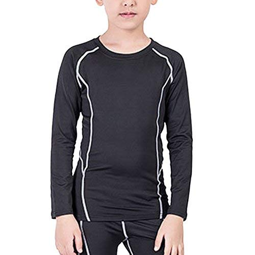 Lanbaosi Boys&Girls Long Sleeve Compression Soccer Practice T-Shirt